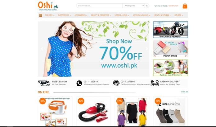 Oshi.pk Ecommerce website Mimcart